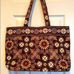 Vera Bradley Brown Canyon Tote Bag w/ Pockets